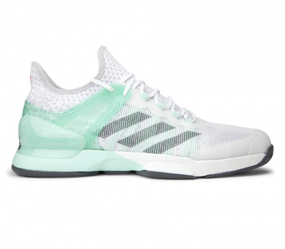 Adidas - Adizero Ubersonic 2 scarpe tennis da uomo (bianco/verde)